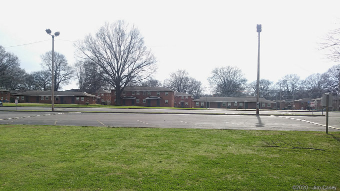 Mason Court, aka Sparkman Homes, a long time public housing complex in Huntsville, is readied for demolition.