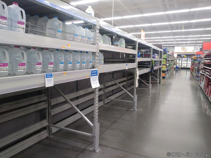 Neighborhood Wal-Mart in West Huntsville struggles with panic buying