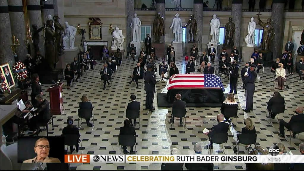 Ruth Bader Ginsburg lies in state at Capitol Statuary Hall