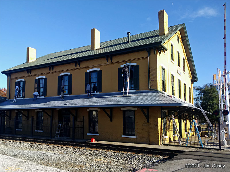 The Huntsville Depot on the solstice.