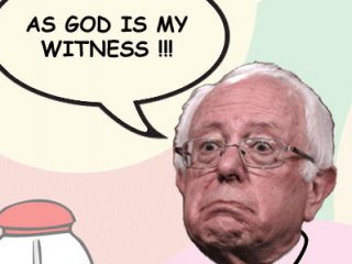 Bernie Sanders is gaining in the democratic polls but seems to be talking out of both sides of his mouth.