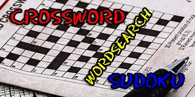 cross word, wordsearch, sudoku