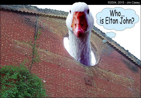 Where is Elton John?